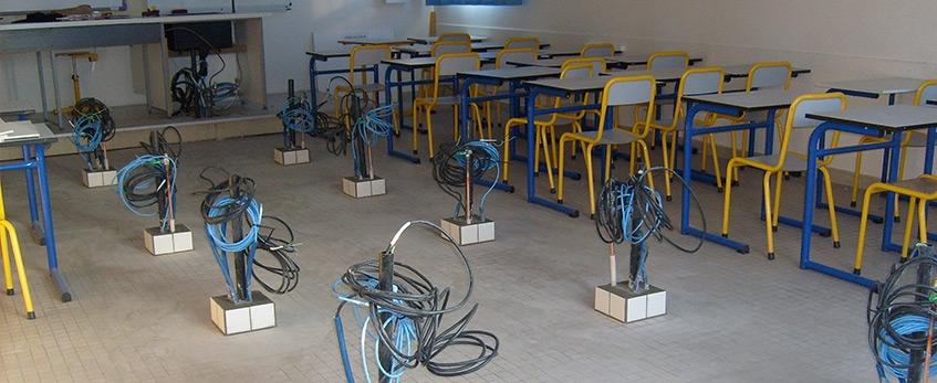 Création d'une salle de sciences, Lycée Simone de Beauvoir.